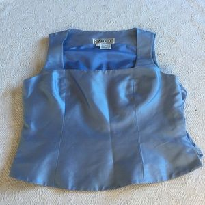 Carlisle Blue silk top and pant size 8